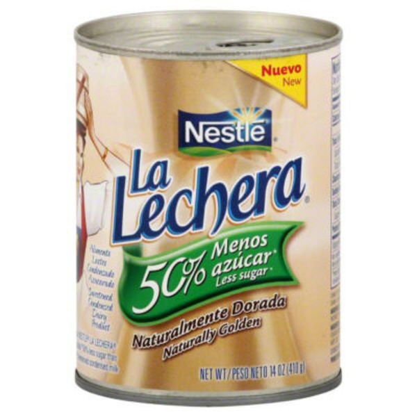 La Lechera 50% Less Sugar Sweetened Condensed Dairy Product