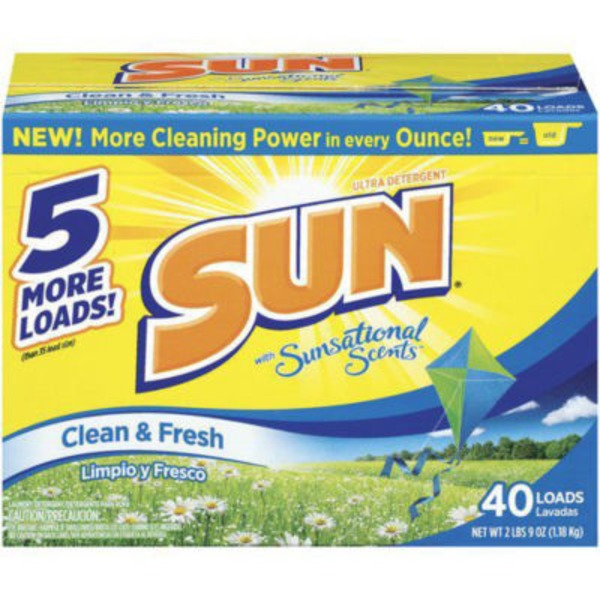 Sun Triple Clean Clean & Fresh Laundry Detergent Powder
