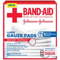 Band Aid® Brand Of First Aid Products J&J Band-Aid FA Gauze 4X4 Pads First Aid Covers Gauze Pads