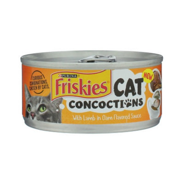 Friskies Cat Concoctions with Lamb in Clam Flavored Sauce Cat Food