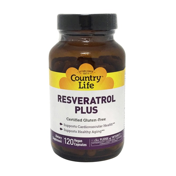 Country Life Resveratrol Plus, Vegetarian Capsules