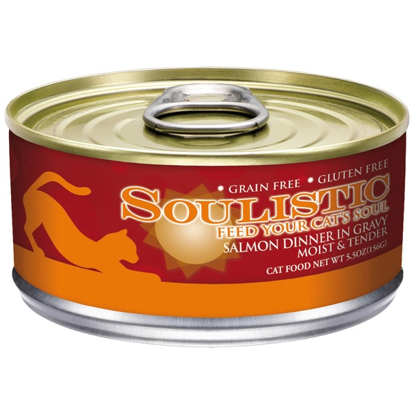 Soulistic Moist & Tender Salmon Dinner Adult Canned Cat Food In Gravy