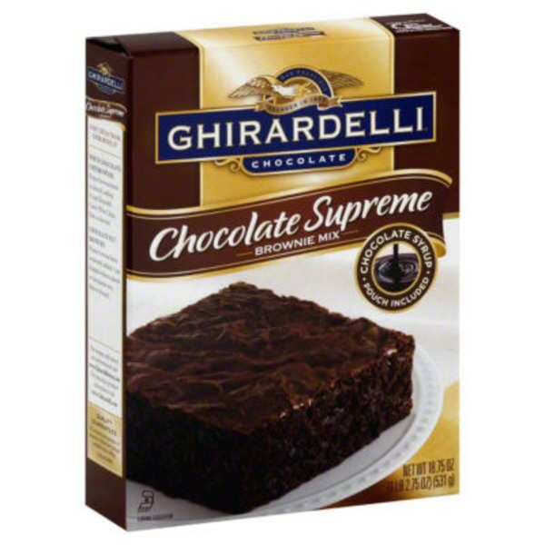 Ghirardelli Chocolate Chocolate Supreme Brownie Mix
