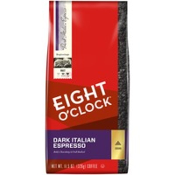 Eight O'Clock Coffee Dark Italian Espresso Ground Coffee