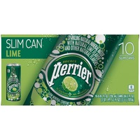 Perrier Lime Slim Cans Sparkling Natural Mineral Water