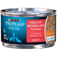 Pro Plan Cat Wet Focus Adult Healthy Metabolism Formula Chicken Entree in Gravy Cat Food