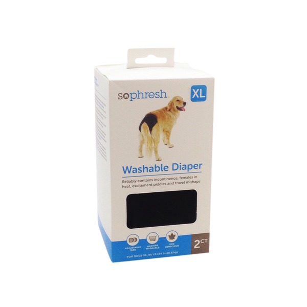 SoPhresh Extra Large Washable Diapers For Dogs