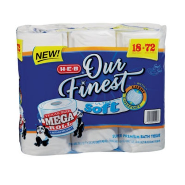 H-E-B Our Finest Bath Tissue Soft