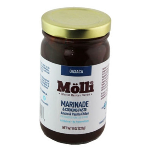 Molli Marinade & Cooking Paste Ancho & Pasilla Chilles