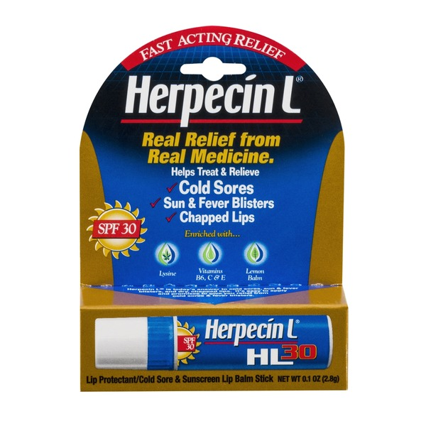 Herpecin L 30 Lip Protectant/Cold Sore & Sunscreen Lip Balm Stick