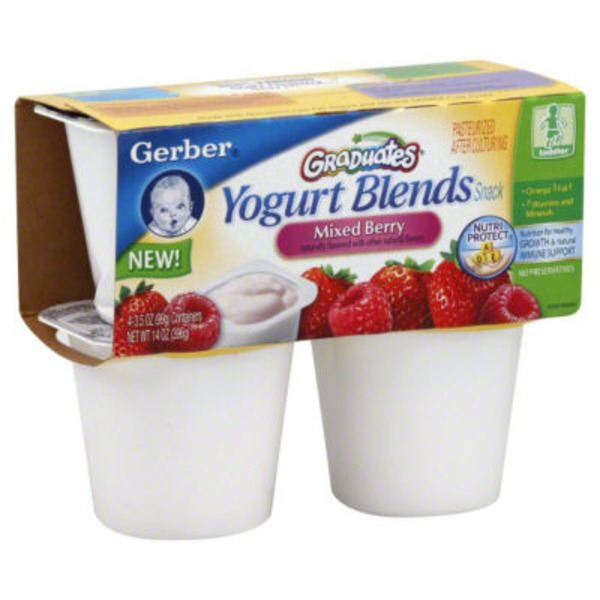 Gerber Yogurt Blends Snack Mixed Berries