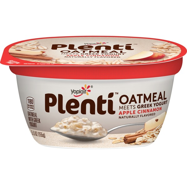 Yoplait Plenti Greek Apple Cinnamon Oatmeal with Yogurt