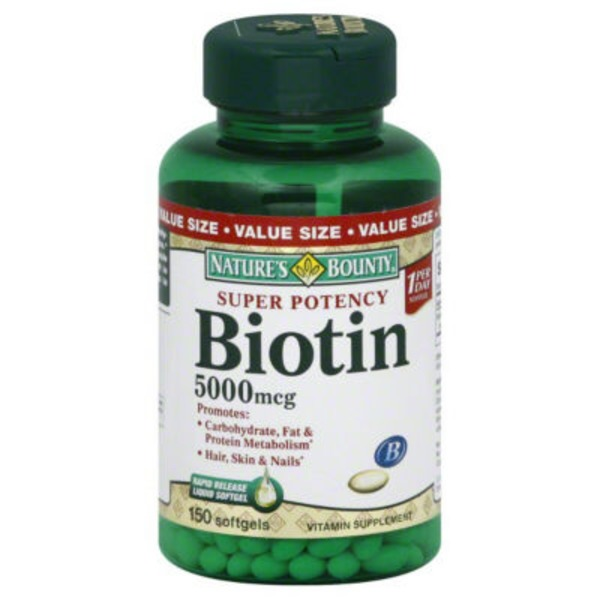 Nature's Bounty Biotin 5000 mcg - 150 CT