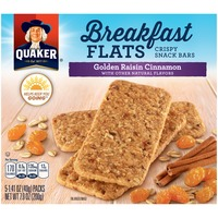 Quaker Breakfast Flats Breakfast Flats Golden Raisin Cinnamon Crispy Snack Bars