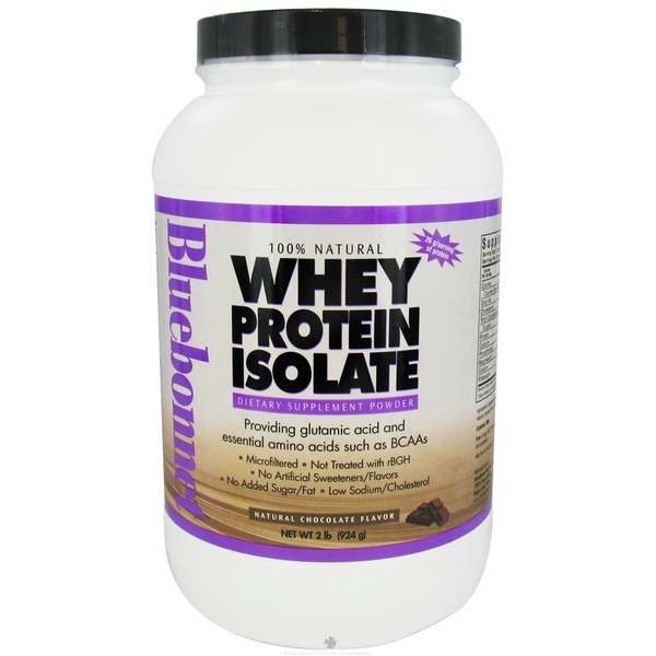 Bluebonnet Nutrition Chocolate 100% Natural Whey Protein Isolate Powder