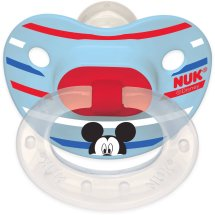 NUK Disney Mickey and Minnie Mouse Puller Pacifier, BPA-Free, 6-18 Months, 2-Pack