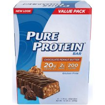 Pure Protein Bar, 20 Grams of Protein, Chocolate Peanut Butter, 1.76 Oz, 6 Ct
