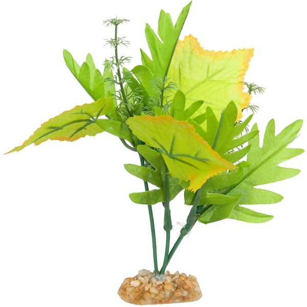 Petco Yellow & Green Blossom Silk Aquarium Plant