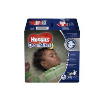 HUGGIES OverNites Diapers, Size 4, 74 Diapers