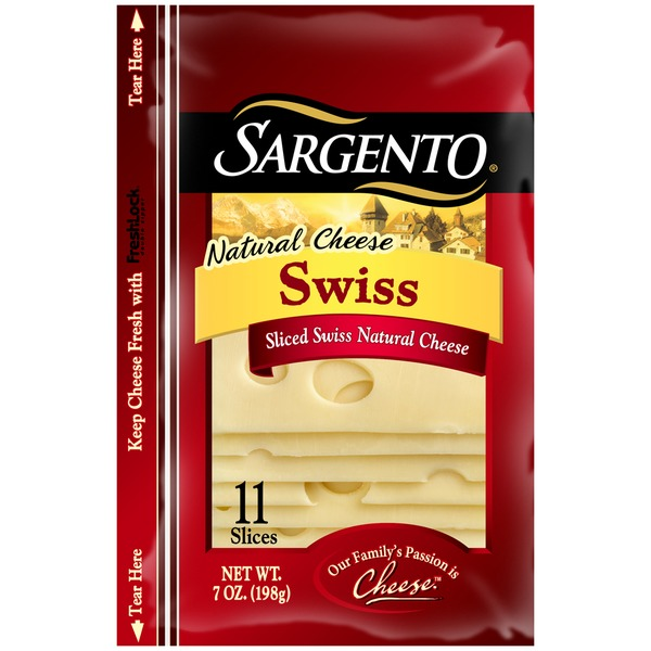 Sargento Natural Sliced Swiss Cheese
