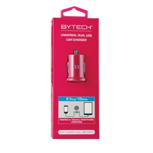 Bytech Universal Dual Usb Car Charger, Red