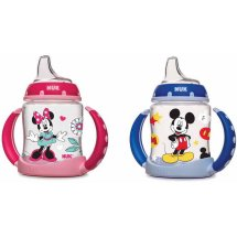NUK Disney Mickey and Minnie Mouse Learner Cup with Silicone Spout, BPA-Free, 5-Ounce