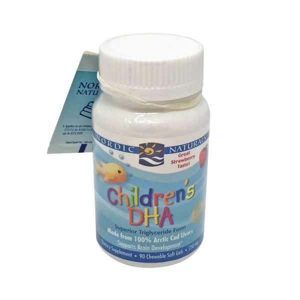 Nordic Naturals Children's DHA Dietary Supplement With Strawberry Taste