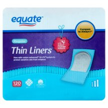Equate Liners, Regular, Unscented, 120 Ct