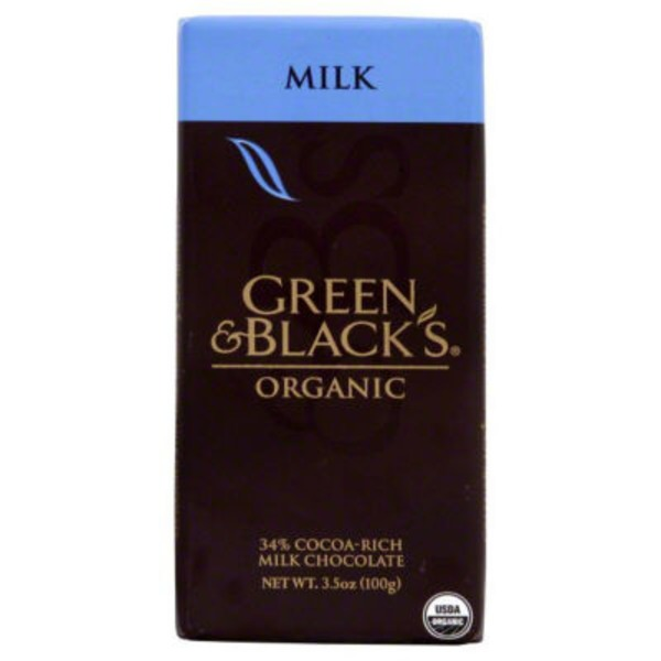 Green & Black's Chocolate Organic 34% Cacao Milk Chocolate Bar