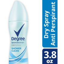 Degree Women Shower Clean Antiperspirant Deodorant Dry Spray 3.8 oz