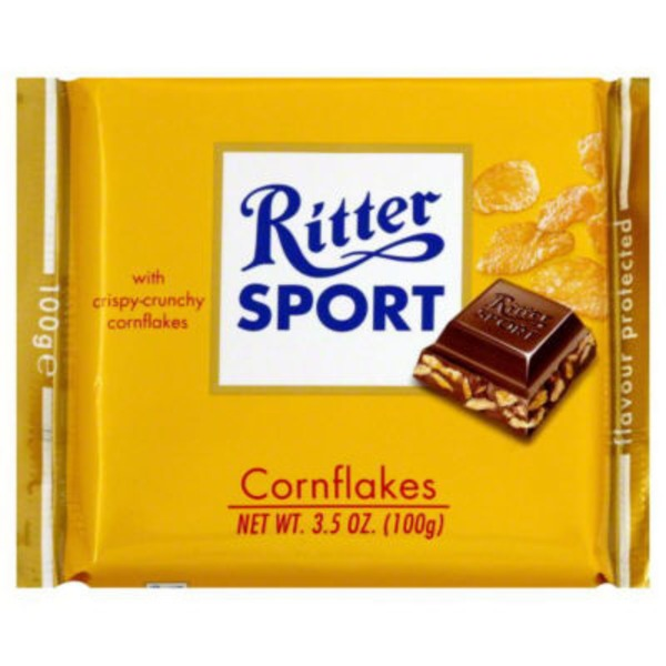 Ritter Sport Sport Milk Chocolate With Cornflakes Bar