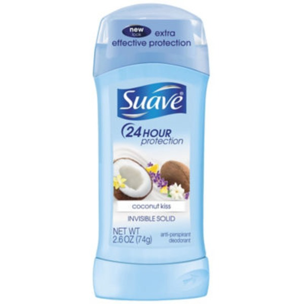 Suave Coconut Kiss Invisible Solid Antiperspirant Deodorant