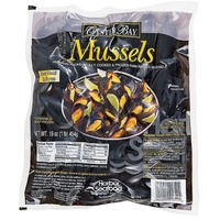 Fish Market Cooked Black Mussels