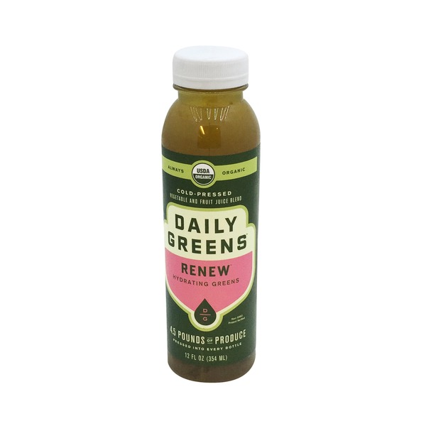 Daily Greens Organic Renew Vegetable and Fruit Juice