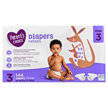 Parent's Choice Diapers, Size 3, 144 Diapers