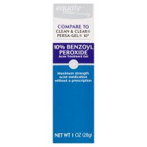 Equate Beauty 10% Benzoyl Peroxide Acne Treatment Gel, 1 Oz