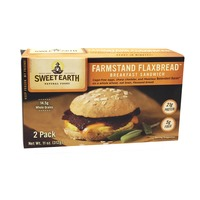 Sweet Earth Farmstand Flaxbread Egg and Vegetarian Bacon Breakfast Sandwich