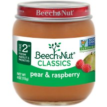 Beech-Nut Stage 2 Pears & Raspberries Stage 2 Fruit, 4 oz