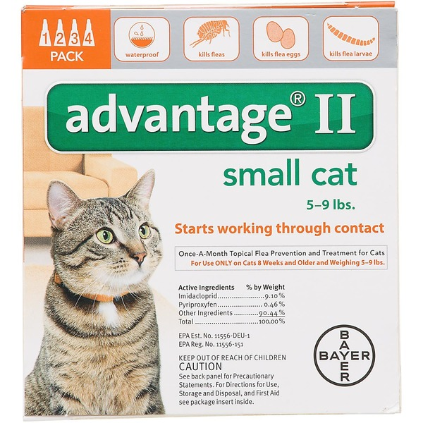 Advantage Bayer Advantage® II Topical Flea Prevention and Treatment Small Cats