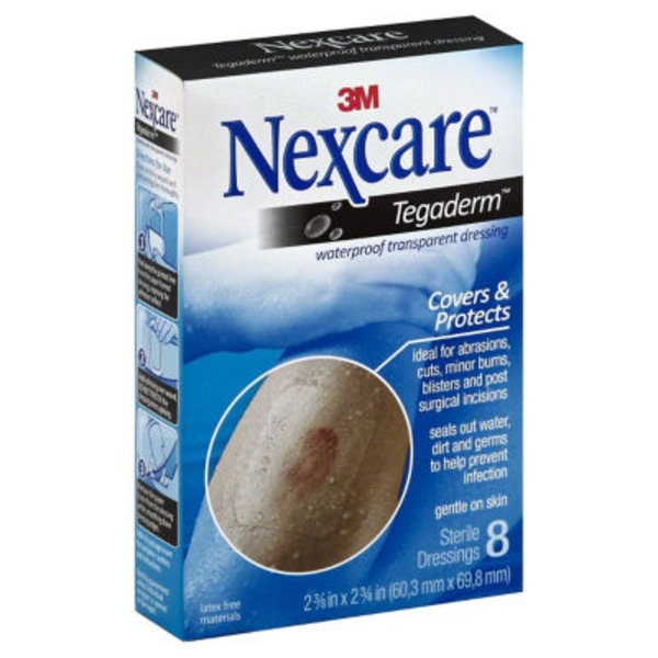 Nexcare 3M Nexcare Tegaderm Waterproof Transparent Dressings - 8 CT