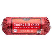 80% Lean/20% Fat, Ground Beef Chuck Roll, 1 lb