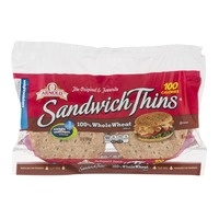 Arnold Sandwich Thins 100% Whole Wheat Rolls