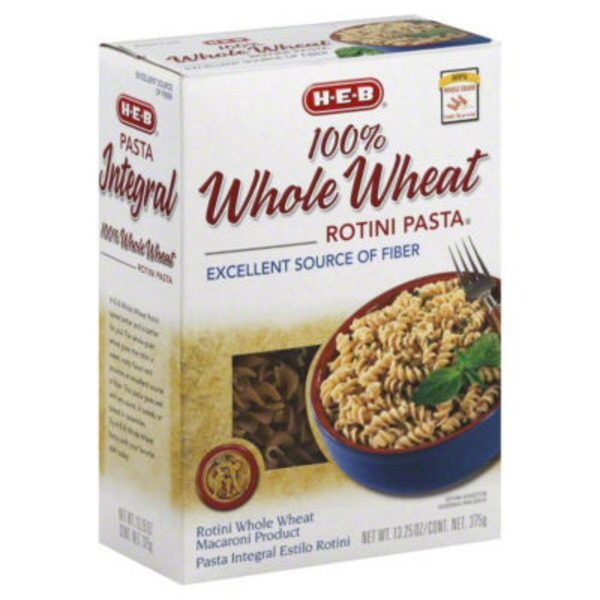 H-E-B Whole Wheat Rotini Pasta