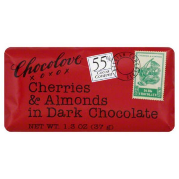 Chocolove Dark Chocolate, Cherries & Almonds