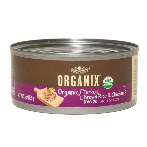 Castor & Pollux Organix Adult Cat Food Turkey, Brown Rice & Chicken Recipe