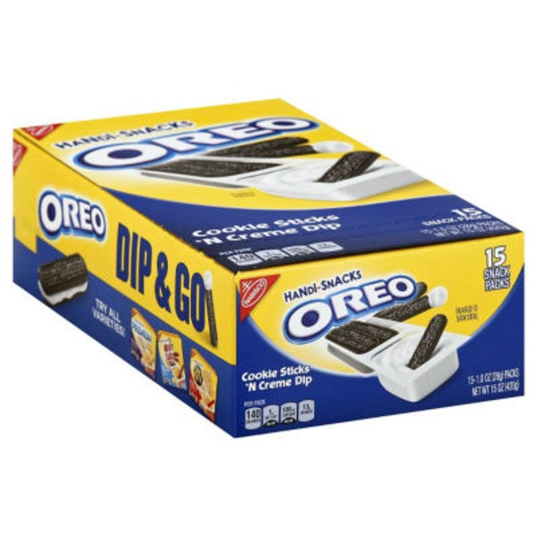 Nabisco Handi Snacks Oreo Cookie Sticks 'n Creme Dip