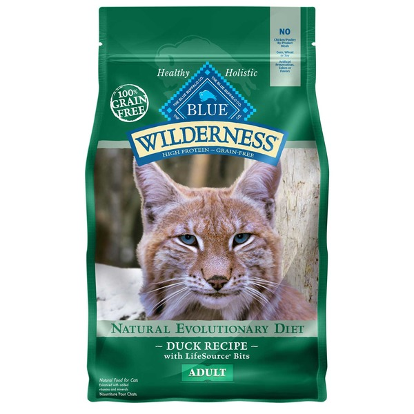 Blue Buffalo Wilderness Grain Free Duck Adult Cat Food 2 Lbs.