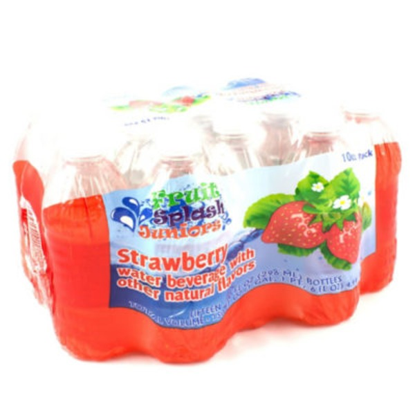Fruit Splash Juniors Strawberry Water Beverage