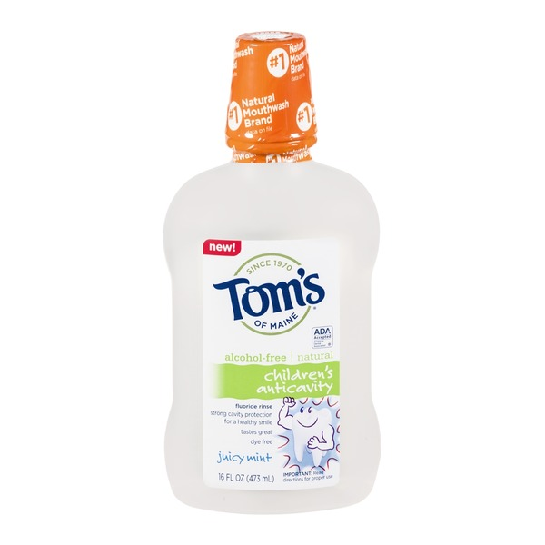 Tom's of Maine Children's Anti-cavity Fluoride Rinse Juicy Mint