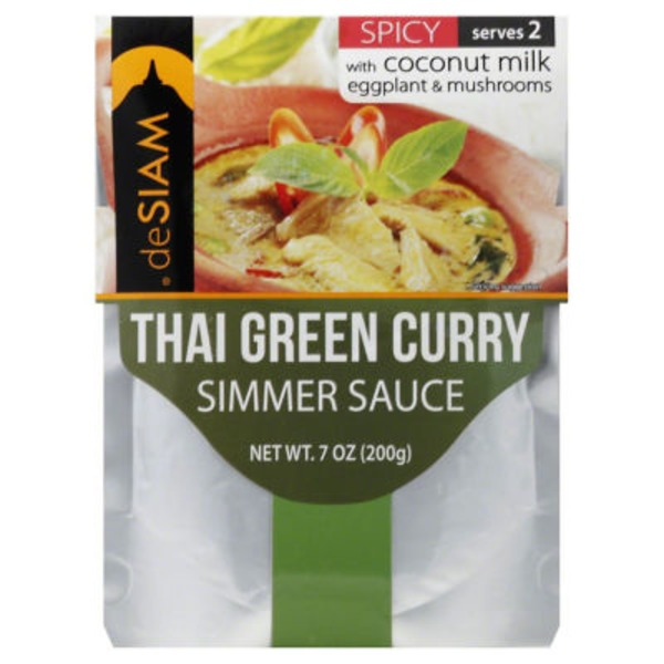 deSiam Spicy Thai Green Curry Simmer Sauce